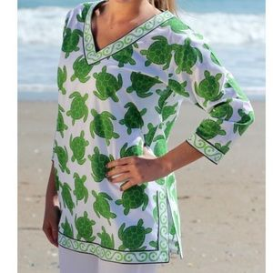 ECOACCENTS Turtle Tunic Green Top